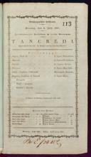 6.7.1817 Tancredi [Rossini, Gioachino]