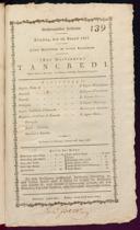 26.8.1817 Tancredi [Rossini, Gioachino]