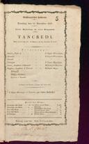 11.11.1817 Tancredi [Rossini, Gioachino]