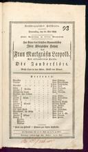 15.5.1823 <<Die>> Zauberflöte [Mozart, Wolfgang Amadeus]