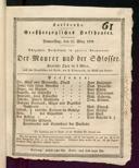 13.3.1828 <<Le>> maçon [Auber, Daniel-François-Esprit]