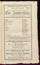 13.1.1833 <<Die>> Zauberflöte [Mozart, Wolfgang Amadeus]