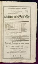 5.3.1833 <<Le>> maçon [Auber, Daniel-François-Esprit]