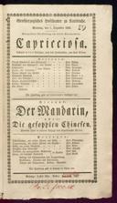 7.12.1834 Non contar gli anni una donna [Federici, Camillo]   <<Der>> Mandarin, oder: Die gefoppten Chinesen [Ritter, Peter]