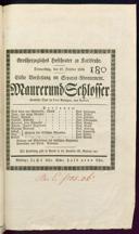 27.10.1836 <<Le>> maçon [Auber, Daniel-François-Esprit]