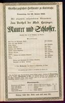 30.1.1845 <<Le>> maçon [Auber, Daniel-François-Esprit]