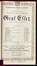 26.10.1856 Graf Essex [Laube, Heinrich]