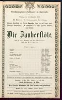 13.9.1857 <<Die>> Zauberflöte [Mozart, Wolfgang Amadeus]