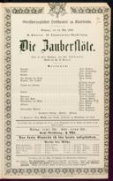 13.5.1860 <<Die>> Zauberflöte [Mozart, Wolfgang Amadeus]