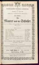 4.4.1867 <<Le>> maçon [Auber, Daniel-François-Esprit]