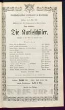 3.5.1867 <<Die>> Karlsschüler [Laube, Heinrich]