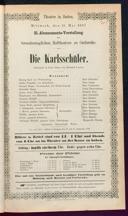 15.5.1867 <<Die>> Karlsschüler [Laube, Heinrich]