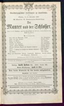 15.9.1867 <<Le>> maçon [Auber, Daniel-François-Esprit]