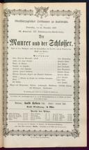 21.11.1867 <<Le>> maçon [Auber, Daniel-François-Esprit]