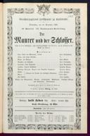 12.11.1868 <<Le>> maçon [Auber, Daniel-François-Esprit]