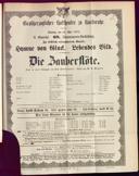 26.5.1878 <<Die>> Zauberflöte [Mozart, Wolfgang Amadeus]