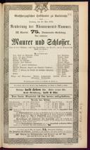 25.5.1879 <<Le>> maçon [Auber, Daniel-François-Esprit]