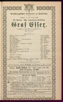 29.8.1882 Graf Essex [Laube, Heinrich]