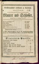 13.7.1838 <<Le>> maçon [Auber, Daniel-François-Esprit]