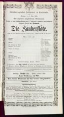 7.5.1866 <<Die>> Zauberflöte [Mozart, Wolfgang Amadeus]