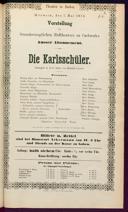 7.5.1873 <<Die>> Karlsschüler [Laube, Heinrich]