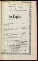 11.2.1874 <<Der>> Elephant [Moser, Gustav von]