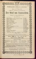 13.2.1874 <<Der>> Graf von Hammerstein [Wilbrandt, Adolf von]
