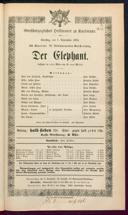 1.9.1874 <<Der>> Elephant [Moser, Gustav von] | Don Giovanni [Mozart, Wolfgang Amadeus]