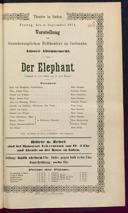 4.9.1874 <<Der>> Elephant [Moser, Gustav von]