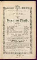 17.1.1875 <<Le>> maçon [Auber, Daniel-François-Esprit]