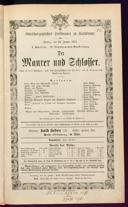 22.1.1875 <<Le>> maçon [Auber, Daniel-François-Esprit]
