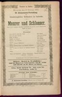 17.2.1875 <<Le>> maçon [Auber, Daniel-François-Esprit]