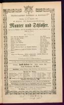 28.12.1875 <<Le>> maçon [Auber, Daniel-François-Esprit]