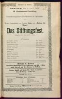 8.4.1876 <<Das>> Stiftungsfest [Moser, Gustav von]