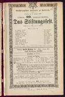 20.1.1880 <<Das>> Stiftungsfest [Moser, Gustav von]