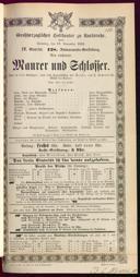18.11.1883 <<Le>> maçon [Auber, Daniel-François-Esprit]