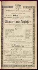 20.12.1883 <<Le>> maçon [Auber, Daniel-François-Esprit]