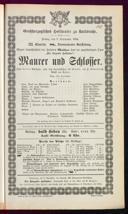 5.9.1884 <<Le>> maçon [Auber, Daniel-François-Esprit]