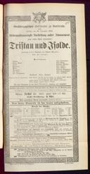 26.12.1884 Tristan und Isolde [Wagner, Richard]