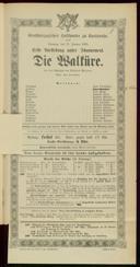 11.1.1885 <<Die>> Walküre [Wagner, Richard]