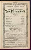 19.5.1885 <<Das>> Stiftungsfest [Moser, Gustav von]
