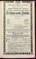 21.10.1885 Tristan und Isolde [Wagner, Richard]