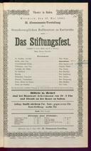 27.5.1885 <<Das>> Stiftungsfest [Moser, Gustav von]