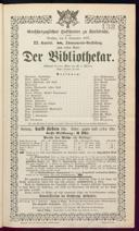 6.9.1887 <<Der>> Bibliothekar [Moser, Gustav von]