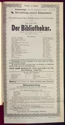 10.9.1887 <<Der>> Bibliothekar [Moser, Gustav von]