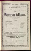 7.12.1887 <<Le>> maçon [Auber, Daniel-François-Esprit]