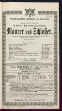 15.5.1888 <<Le>> maçon [Auber, Daniel-François-Esprit]