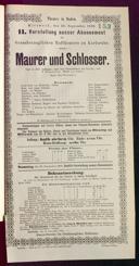26.9.1888 <<Le>> maçon [Auber, Daniel-François-Esprit]