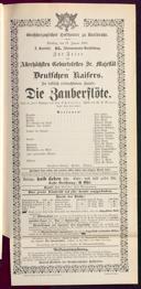 27.1.1891 <<Die>> Zauberflöte [Mozart, Wolfgang Amadeus]