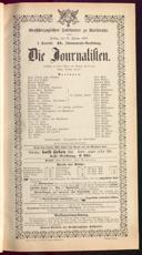 30.1.1891 <<Die>> Journalisten [Freytag, Gustav]